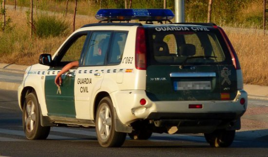 nissan x trail guardia civil