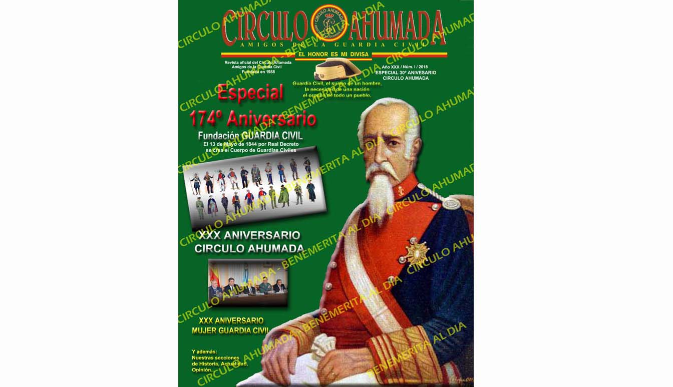 portada revista 174 aniversario guardia civil