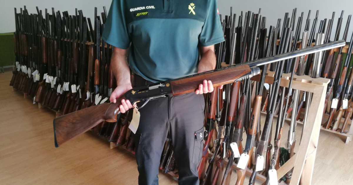 subasta de armas guardia civil
