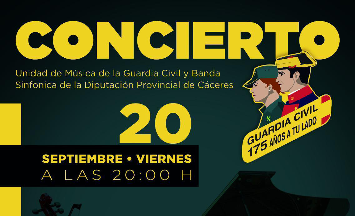 Cartel 2 concierto guardia civil caceres