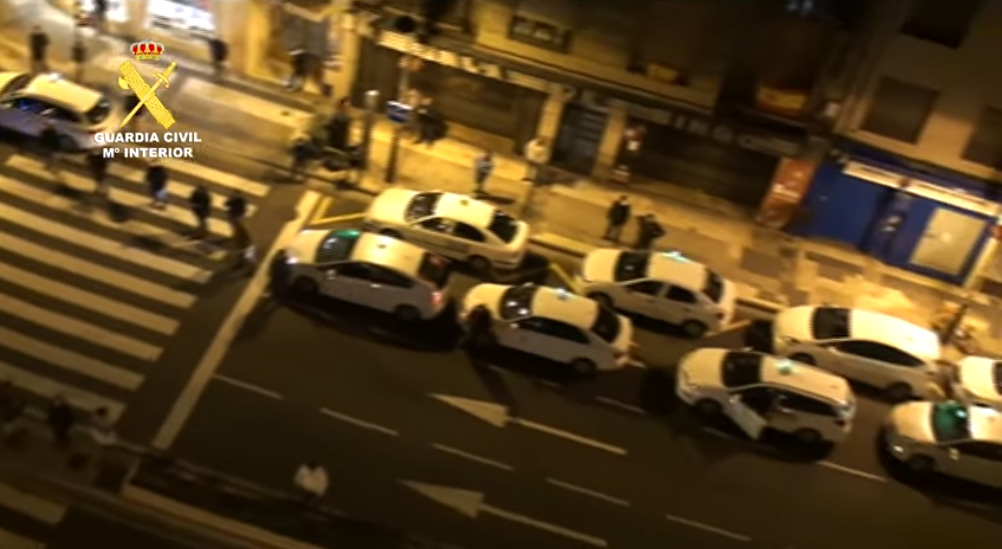 TAXISTAS ZARAGOZA GUARDIA CIVIL