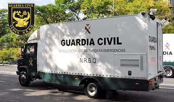 nrbq furgon guardia civil