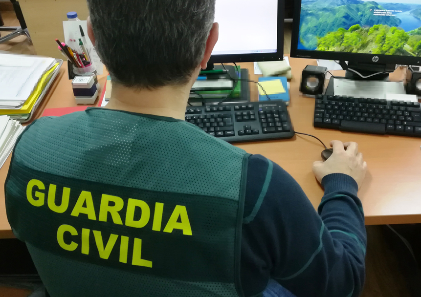 La Guardia Civil de Zamora interviene casi 8000 euros  procedentes de una estafa por Internet